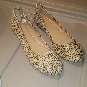 New! Animal print flats from universal threads..